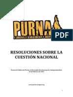 Resoluciones Sobre La Cuestic3b3n Nacional