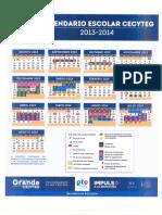 Calendario 2013-2014 Autorizado