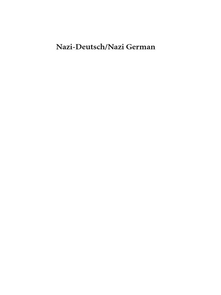 Nazi Language   Martin Luther   Antisemitism