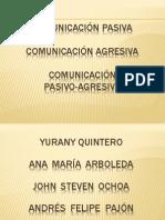 Comunicacion Pasiva, Agresiva, Pasivo-Agresiva