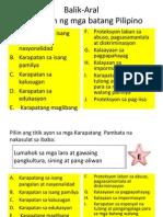 Karapatan Ng Mga Kababaihan 2013