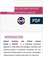 Hazard Analysis and Critical Control Points (Haccp