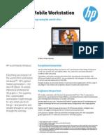 HP ZBook 14 Mobile Workstation Data Sheet