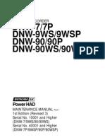 DNW-7, DNW-9WS, DNW-90, DNW-90WS - Service