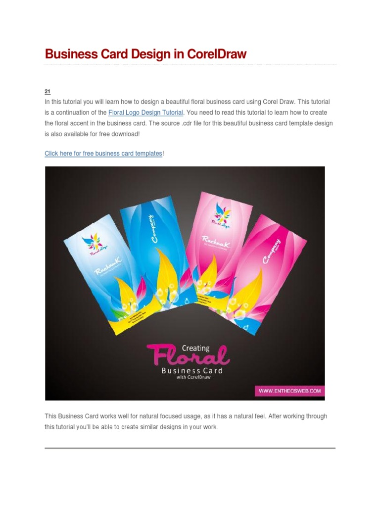 Business card design in coreldraw media technology graphic design reheart Images