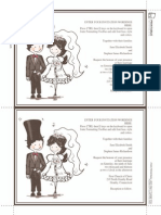 Caricature Bride Groom