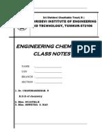 Chemistry notes vtu