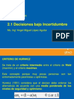 Decisiones Bajo Incertidumbre- Continuacion