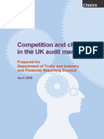 Competition and Choice in the UK Audit Market