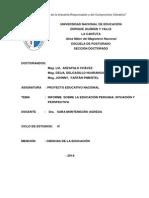Trabajo Informe de La Educacion Peruana Une 2014 - i