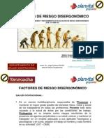 Factores de Riesgo Disergonómico - Dr Jorge Chávez