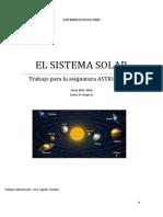 Breve descripción  del Sistema Solar