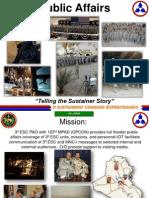 Presentation to Defense Information School on Leveraging Hometown Engagement