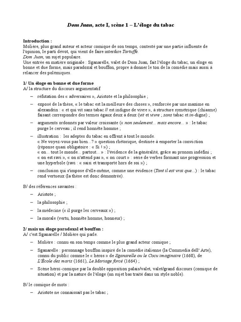 Resume Dom Juan Acte 2 Scene 1 - Professional User Manual EBooks •