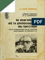 Le Marxisme Et La Philiosophie Du Langage