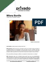 Privadoentrevistas Milena Bonilla