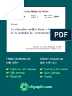 Abreu- La Educación Médica Frente a Los Retos Del Conocimiento.