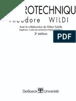 Livre Electrotechnique Théodore Wildi