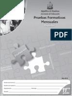 Prueba Formativa 11º Español (2010)