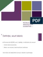 Modele Si Arhitecturi Cognitive