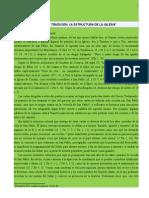 Benedicto XVI. Escritura y Tradición. Estructura de La Iglesia.