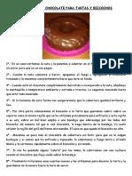 Cobertura de Chocolate Para Tartas y Bizcochos