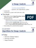 Image analysis algorithm