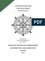 Laporan Praktikum Statistik Dasar Pertemuan Ke 6