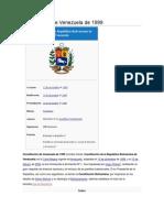 Constitución de Venezuela de 1999