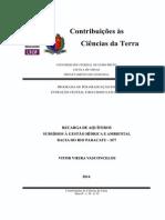 Recarga de Aquíferos - Subsídios à Gestão Hídrica e Ambiental - Bacia Do Paracatu