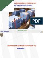 Problemas Sobre Máq. Síncronas - ML 244 - 02.12.2013
