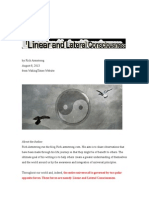 Linear & Lateral Consciousness
