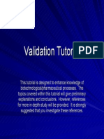 Validation Tutorial