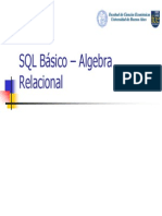 SQL Basico Algebra Relacional v6