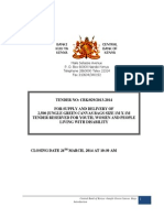 Tender No Cbk 029-13-14 Forsupplyanddelivery Ofgreencanvasbags