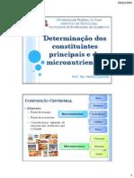Determinacao Dos Constituintes Principais e de Micronutrientes