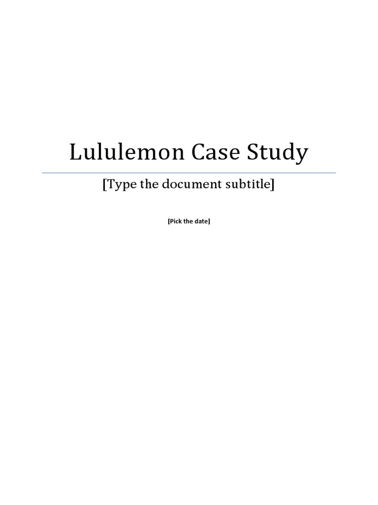 lululemon case study strategic management inventory
