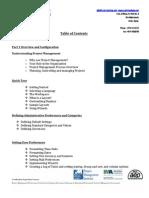 Primavera Advanced Course Content
