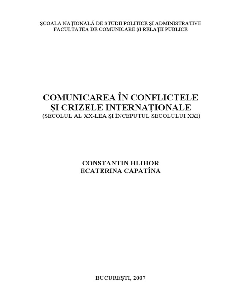 Om cautand conflicte