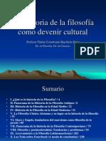 La Historia de La Filosofia en Su Devenir Cultural