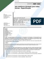 NBR 10501_01 - Cabo Telefônico Blindado Para Redes Internas - Especificação - 15pag