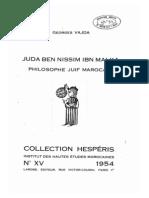 JUDA BEN NISSIM IBN MALKA PHILOSOPHE JUIF MAROCAIN