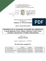 Simulation de La Commande Vectorielle Par Régulateurs à Mode Glissant d'Une Chaine Éolienne à Base d'Une Machine Asynchrone à Double Alimentation1