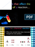 factors that affect the speed of a chemical reaction
