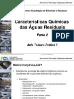 Aula TP7 Caract Químicas Águas Residuais Parte 2 16042014