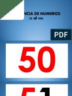 Secuencia de Numeros 50 Al 900