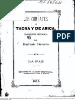 Los Combates de Tacna y Arica. Narración Histórica. (1885)