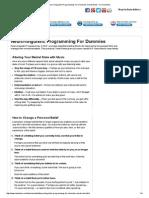 Neuro-linguistic Programming for Dummies Cheat Sheet - For Dummies