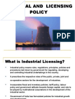 Industrial and Licensing Policy