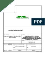 Procedimiento Para La Elaboración de La Matriz de Peligro y Evaluación de Riesgos Pg-p9!06!02